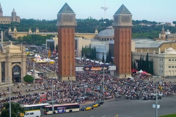 Plaza España vista desde Las Arenas