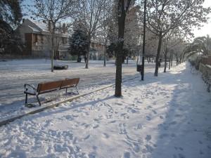 Postal: Un jardín público en Getafe, Comunidad de Madrid (España)