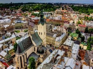 Edificios y tejados de Ucrania