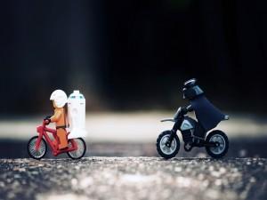 Postal: Darth Vader en moto
