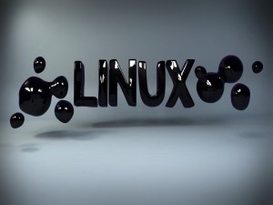 Postal: Linux en pintura negra