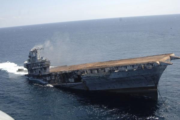 Hundimiento del portaaviones