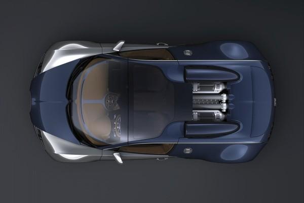 Bugatti Veyron Sang Bleu, visto desde arriba