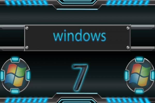 Windows 7 con luces azules