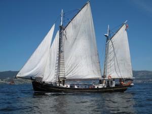 Postal: Barco de vela
