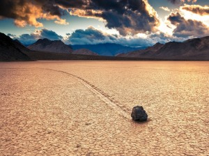 Piedra en un lugar seco