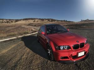 BMW parado en la carretera