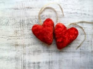 Postal: Dos corazones