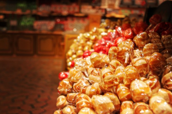 Caramelos en una tienda