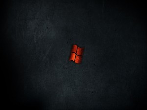 Postal: Logo de Windows rojo