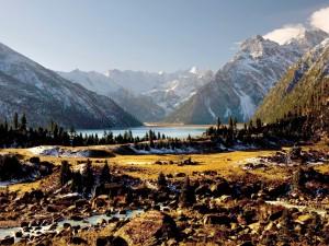 Postal: Día soleado en las montañas