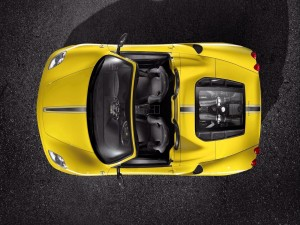 Ferrari visto desde arriba