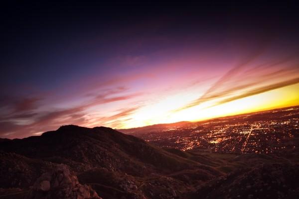 El cielo al amanecer
