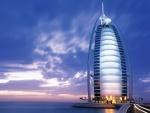 Anochecer en el Burj Al Arab