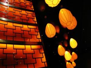Farolillos iluminados