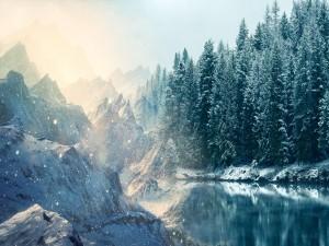 Dos paisajes nevados