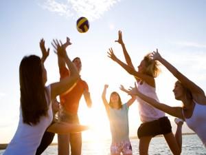 Postal: Voleibol en la playa
