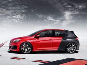 Postal: Peugeot 308 R Concept, rojo y negro