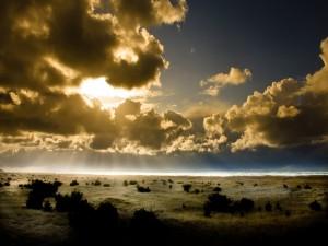 Nubes ocultando el sol
