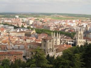 Vista parcial de la ciudad de Burgos, España