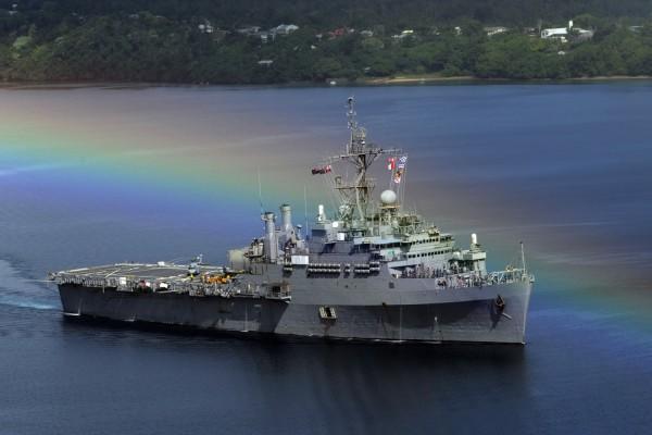 Arcoíris sobre el portaaviones