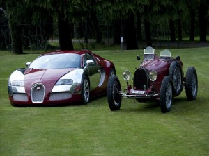 Dos generaciones de Bugatti