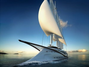 Postal: Un original velero