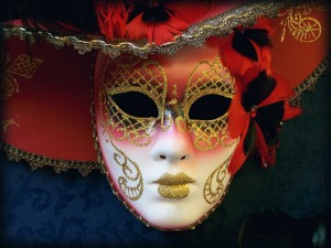 Postal: Máscara para el carnaval