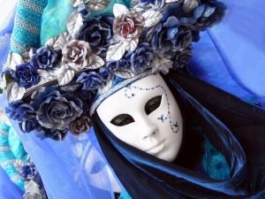 Postal: Disfraz en carnaval