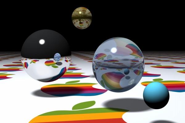 Bolas flotando