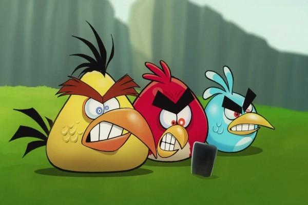Angry Birds con cara de enfado