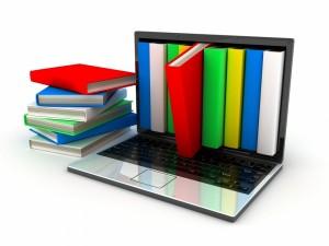 Libros en el portátil