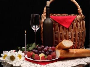 Postal: Un romántico picnic