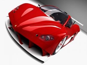 Postal: Ferrari rojo
