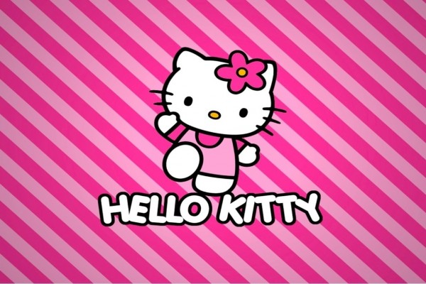 Hello Kitty muy alegre