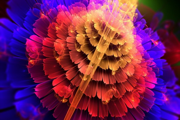 Flor abstracta de varios colores