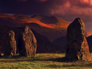 Postal: Tres grandes rocas