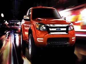 Ford Ranger en movimiento