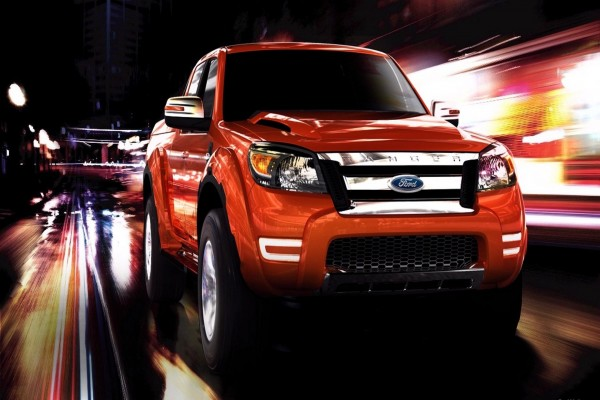 Ford Ranger en movimiento