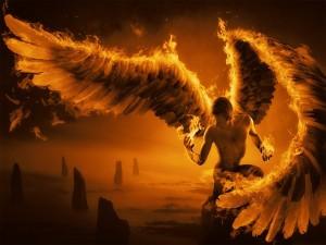 Postal: Ángel ardiendo