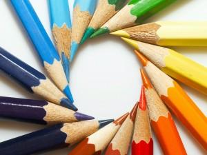 Postal: Lápices de colores