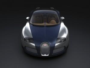 Postal: Un precioso Bugatti