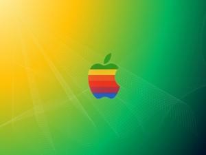 Apple con los colores del arcoíris