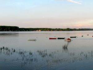 Postal: Barcas en el agua