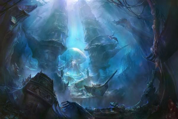 Sirenas y la reina medusa