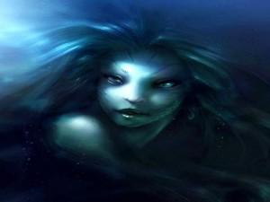 El rostro de una sirena