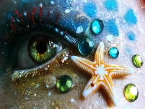 Postal: Maquillaje marino
