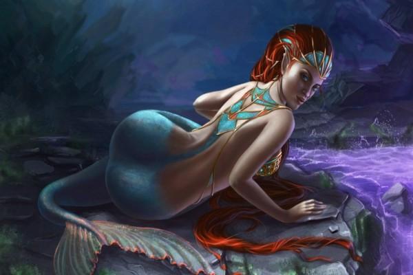 Sirena fuera del mar
