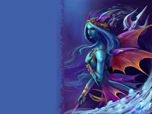 Postal: Bella sirena guerrera