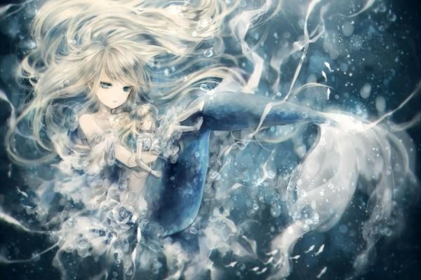 Sirena rescatando a una niña